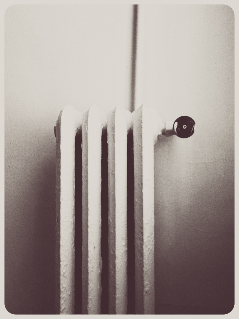The radiator in Shawn's bedroom which was a constant source of noise, but an interesting photographic subject.